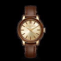 Barrel 2.0 36mm - Ebony Gold Leather