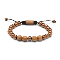 Macrame Bracelet 8mm - Whiskey Espresso