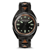 The Grainmaster 45mm Swiss Auto - Burlwood Black