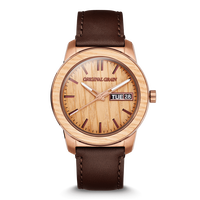 The Barrel 2.0 42mm - Whiskey Espresso Leather