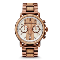 The Alterra Chronograph 44mm - Whiskey Espresso
