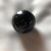 ②ブラックアゼツライト(H&E社)丸玉60mm