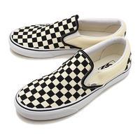 <VANS【ヴァンズ】>CLASSIC SLIP-ON (スリッポン)/Black and White Checker ・White