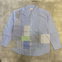 "sliderstoreオリジナル ""remake patchwork shirt""⑤"