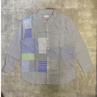 "sliderstoreオリジナル ""remake patchwork shirt""③"