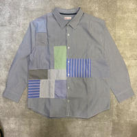 "sliderstoreオリジナル ""remake patchwork shirt""②"