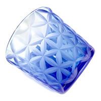 東京切子(花切子)グラス 六花-Pro  青