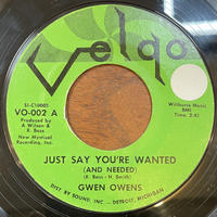 GWEN OWENS / Just Say You're Wanted