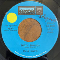 ROSE DAVIS / That's Enough