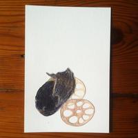 ナスとレンコン (Postcard)
