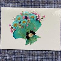 グリーンのブーケ(2つ折り/封筒付)