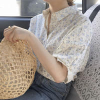 【 予約商品 】#223   ブルーフラワーシャツ