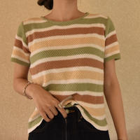 #10 stripe sweater 【 green 】