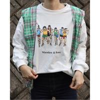 #149 ランナー ロングTシャツ /ホワイト