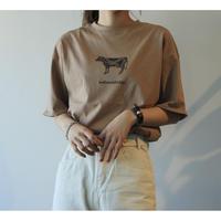 #209 cowcow T-shirt / ブラウン