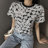 #18 Flower monotone T-shirt
