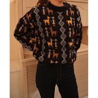 #153 おさんぽセーター/ブラック