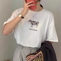 #210 cowcow T-shirt / ホワイト
