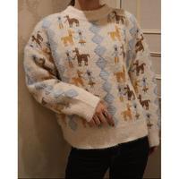 #152 おさんぽセーター/ホワイト