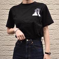 #21 monotone Girl T-shirt【 black 】