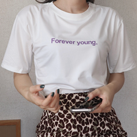 #24 forever young T-shirt 【 white 】