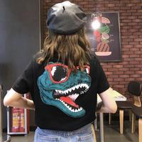 #37 Dinosaur T-shirt【 black 】