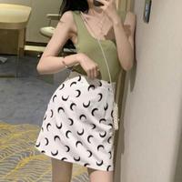 #26 moon culotte skirt  【 white 】