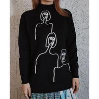 #132 ピープルズセーター/ブラック