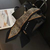 #A09 Python leopard scarf 【 black 】