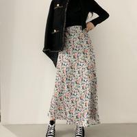 #172 フラワーロングスカート