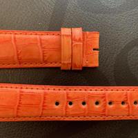 【メンズストラップ】オレンジ型押しレザー M-Orange01