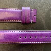 【メンズストラップ】パープルレザー×ホワイトステッチ M-Purple02