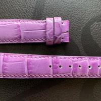 【レディースストラップ】パープル型押しレザー L-Purple04