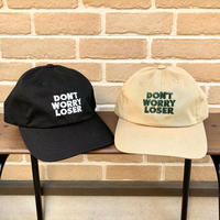 "DON'T WORRY LOSER:""LOGO CAP"" (BLACK,BEIGE)"