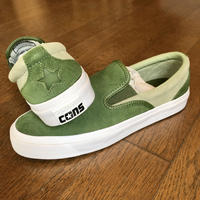 "CONVERSE CONS:""ONE STAR CC SLIP ON SKATE SHOES""(CYPRESS GREEN)"