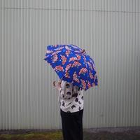 Sun miの傘 花柄 青(50cm)