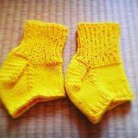 手編みアンクルウォーマー