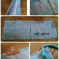 Linen cafe apron short