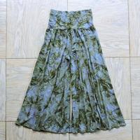 (Mサイズ)フレアーパンツ中厚手 モスグリーン・マーブル [YP.23RL/MH-TD.116]