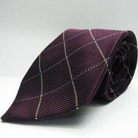 【上質な1本】ADONIS1933(アドニス|株式会社安藤扱い)クロスストライプネクタイ|ジャガード織り|シルク100%|USED|日本製|Y34032