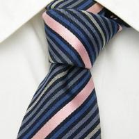 ピンクのアクセントが◎【BUONA GIORNATA(ボナジョルナータ)】ストライプネクタイ【USED】0219