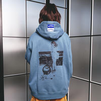 with Hoodie (blue)