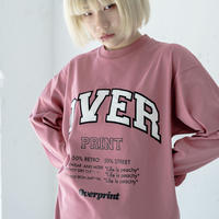 COLLEGE Heavy oz LS Tee(coral pink)