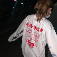 NOODLE FES LS Tee *with 少年ジェッター (white)