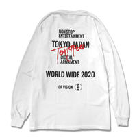 【Tongpoo】TOKYO L/S TEE-WHITE(TPLS-003-WH)