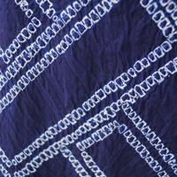 【浴衣】藍地に網代文 有松絞 浴衣