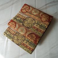 【なごや帯】暖色系 古典文様 織 なごや帯