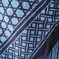【men's・浴衣】  藍×濃紺 網代や籠目文様の浴衣