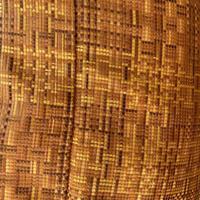 お取り置き中【袷】赤朽葉色系モザイク織り 柔らか小紋