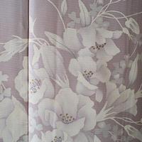 【夏・絽】牡丹鼠色に夏花柄 絽訪問着